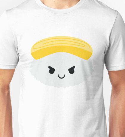 Egg Sushi Emoji Naughty and Cheeky Unisex T-Shirt