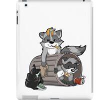 Raccoons grateful iPad Case/Skin