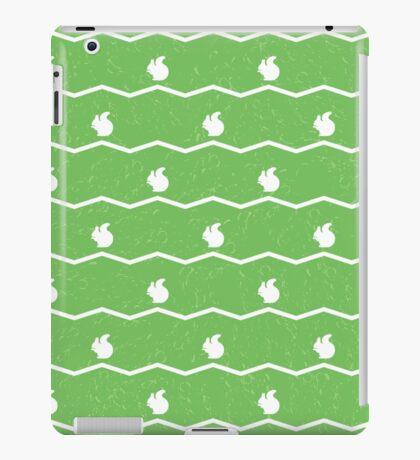 White squirrels on green iPad Case/Skin