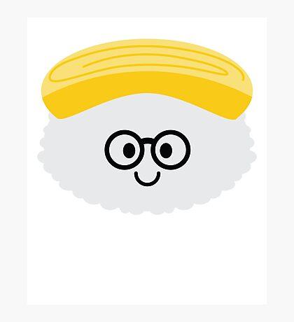Egg Sushi Emoji Nerd Noob Glasses Photographic Print