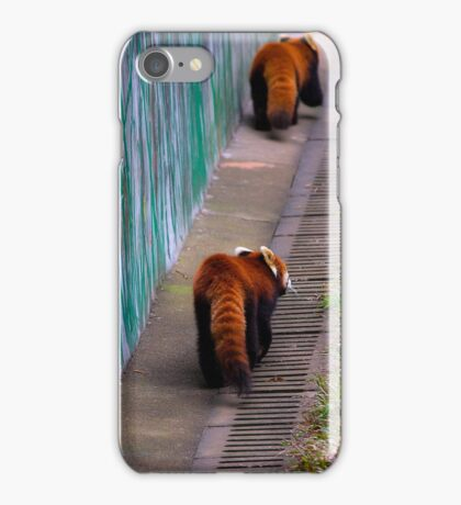 Red Racoons  iPhone Case/Skin