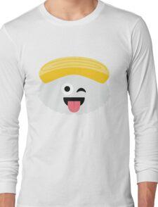 Egg Sushi Emoji Wink and Tongue Out Long Sleeve T-Shirt