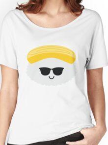 Egg Sushi Emoji Cool Sunglasses Women's Relaxed Fit T-Shirt