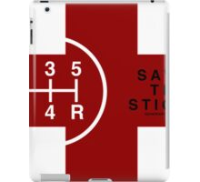 Save The Stick Red Cross 5 Speed Car Shirts For Men iPad Case/Skin