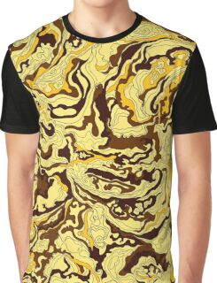 Texture of smoke golden Graphic T-Shirt