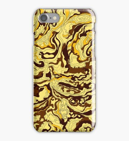 Texture of smoke golden iPhone Case/Skin