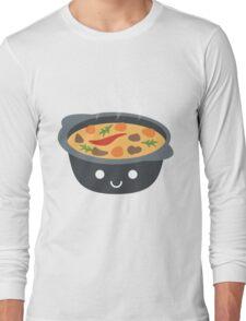 Hotpot Emoji Happy Smiling Face Long Sleeve T-Shirt