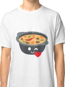 Hotpot Emoji Flirt and Blow Kiss Classic T-Shirt