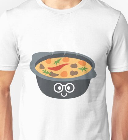 Hotpot Emoji Nerd Noob Glasses Unisex T-Shirt