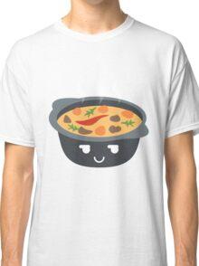 Hotpot Emoji Cheeky and Up to Something Classic T-Shirt