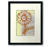 Canary Sunflower Framed Print