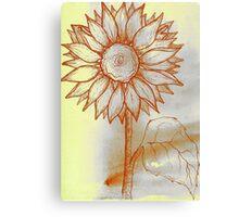 Canary Sunflower Canvas Print