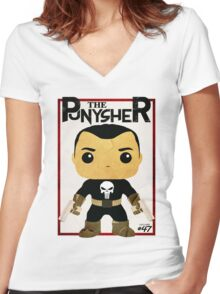 THIS IS WAR - PUNYSHER VINTAGE Women's Fitted V-Neck T-Shirt