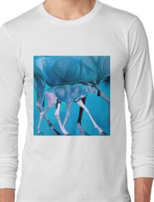 """""""All world is my Mom"""" Long Sleeve T-Shirt"""