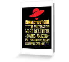 Connecticut Girl Greeting Card