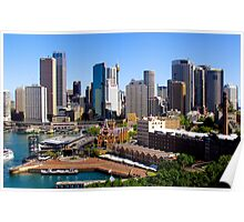 Sydney Harbour, Circular Quay, Australia. Poster