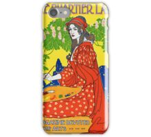 French Vintage Magazine Poster Restored iPhone Case/Skin