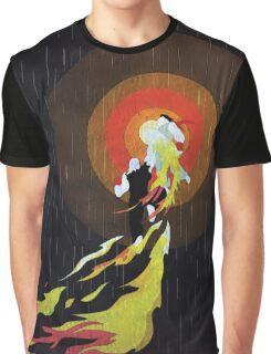Street Fighter Ken Flaming Shoryuken Graphic T-Shirt