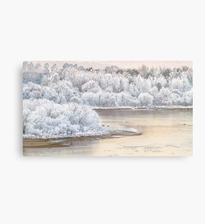 White Nemunas Shores Canvas Print