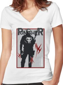 THIS IS WAR - PUNISHER Women's Fitted V-Neck T-Shirt