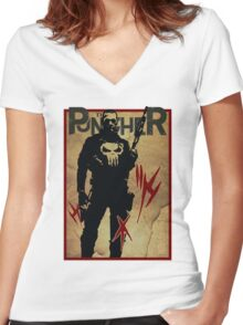 THIS IS WAR - PUNISHER VINTAGE Women's Fitted V-Neck T-Shirt