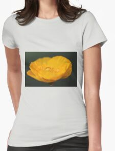 Yellow Poppy Womens Fitted T-Shirt