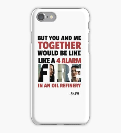 Root & Shaw - 4ALARM iPhone Case/Skin