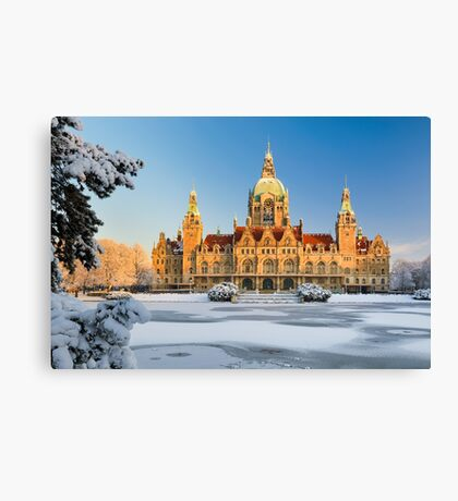City Hall of Hannover in winter Canvas Print