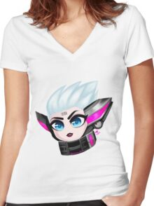 Chibi Project Fiora Women's Fitted V-Neck T-Shirt