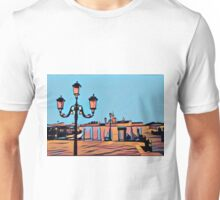 Venetian Lamp Posts and Gondolas Unisex T-Shirt