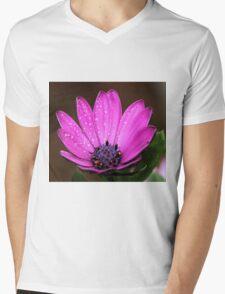 Purple Daisy Mens V-Neck T-Shirt