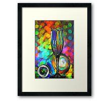 Bottle and glass Framed Print