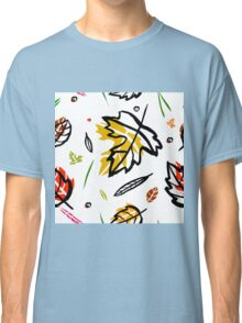 Pattern with autumn elements and templates Classic T-Shirt