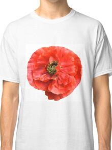 Big Red Wild Poppy. Classic T-Shirt