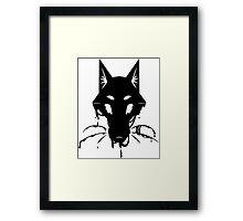 Ink Fox (less floof) Framed Print