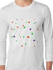 Pattern of strawberries, blueberries and cherries Long Sleeve T-Shirt