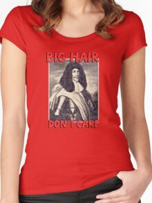 Big hair don't care. Funny Quote. Women's Fitted Scoop T-Shirt