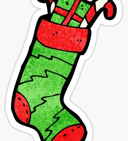 christmas stocking cartoon character Sticker
