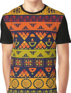 Bright African Pattern Graphic T-Shirt