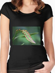 Lily buds Women's Fitted Scoop T-Shirt