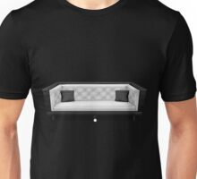 Glitch furniture sofa pearly white quilted sofa Unisex T-Shirt