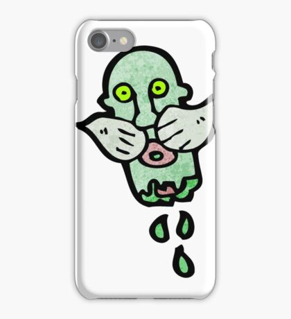gross severed zombie head cartoon iPhone Case/Skin