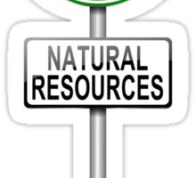 Natural resources concept. Sticker