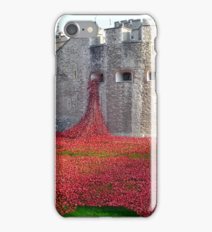 Ceramic Poppies at Tower  of London iPhone Case/Skin