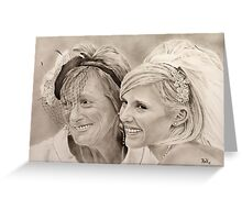 """""""Bride and mother"""" Greeting Card"""