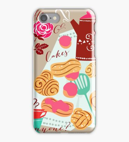 Coffe, cakes & romance iPhone Case/Skin