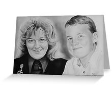"""""""Mother and son"""" Greeting Card"""