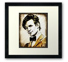 Matt Smith Dr Who Framed Print