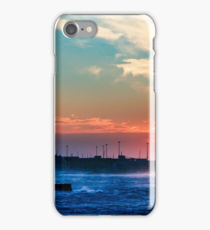windy sunset in Trieste iPhone Case/Skin