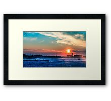 windy sunset in Trieste Framed Print